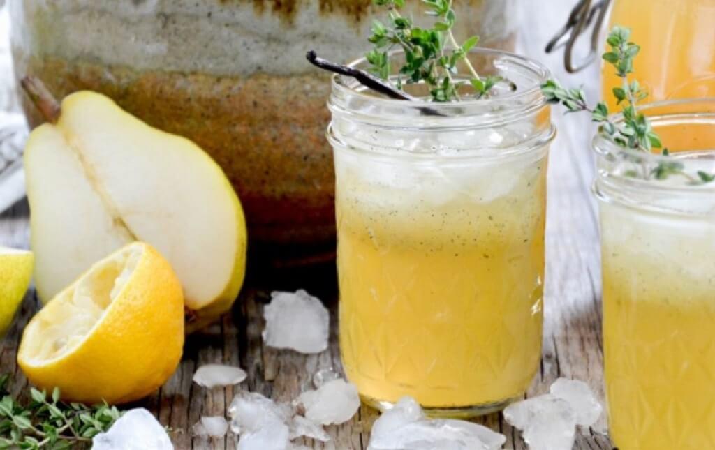 Лимонно-грушевый сок